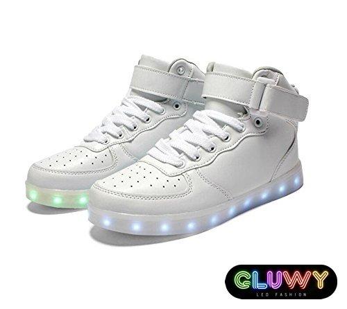 LED topánky Sneakers biele - App na zmenu farieb cez mobil  e1aa9c4dda3