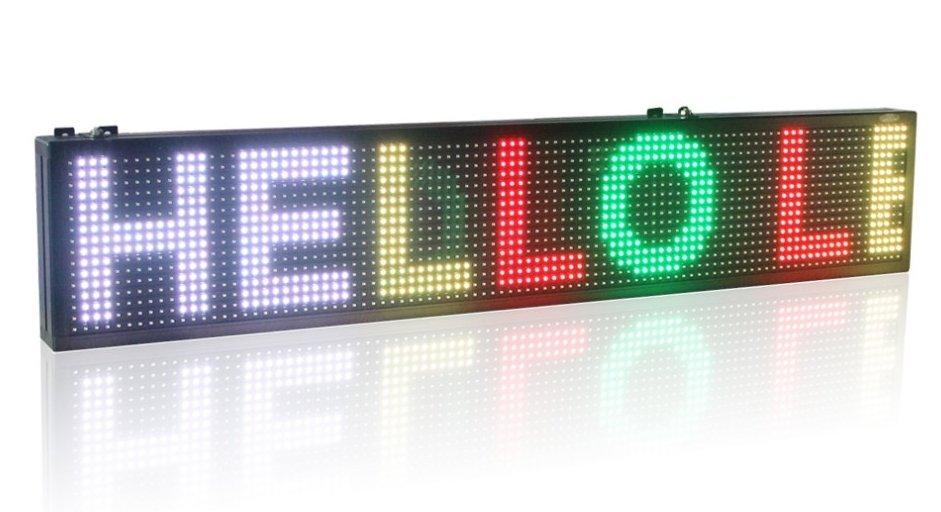 cran panneau led 7 couleurs programmables 100 cm x 15 cm cool mania. Black Bedroom Furniture Sets. Home Design Ideas