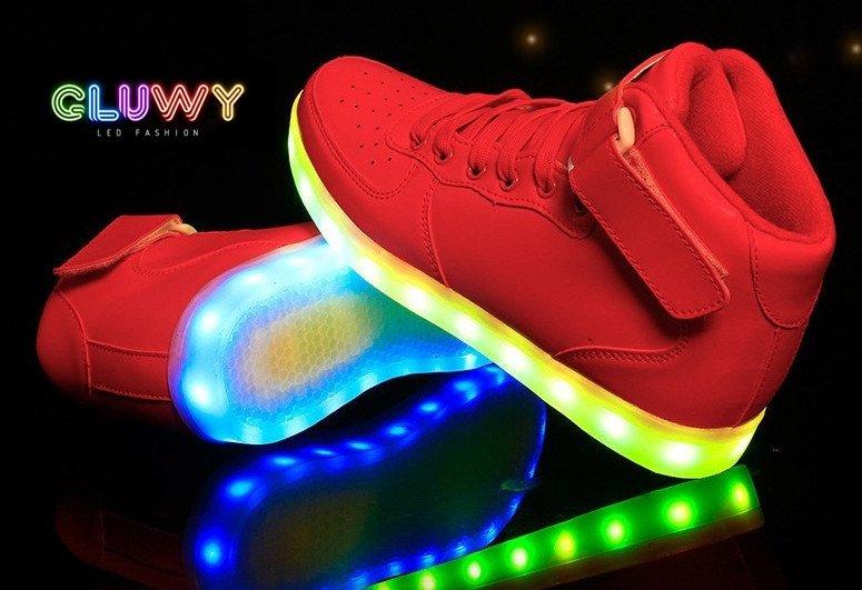 Blikajúce topánky - Sneakers červené  a26c0f58604