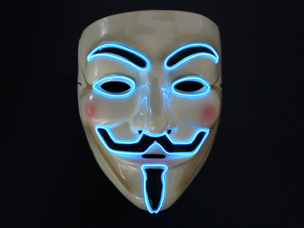 Neon masks anonymous blue cool mania - Pictures of anonymous mask ...