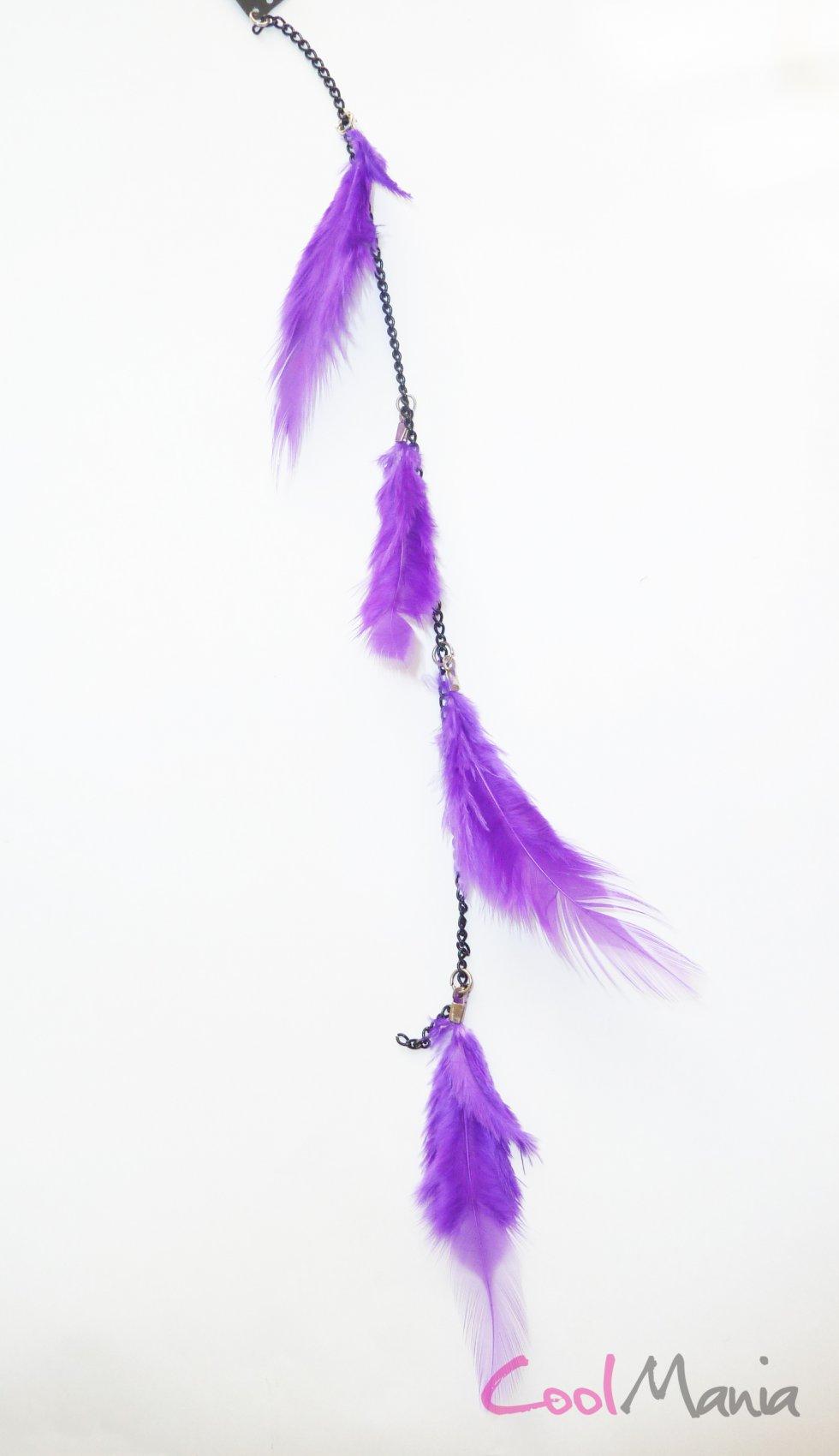 prolongation de cheveux de plume violet clair cool mania. Black Bedroom Furniture Sets. Home Design Ideas
